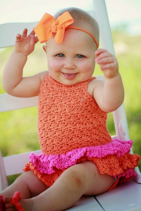 Inspirational Fun Summer Knit and Crochet Patterns Knitted Baby Romper Of Amazing 42 Ideas Knitted Baby Romper