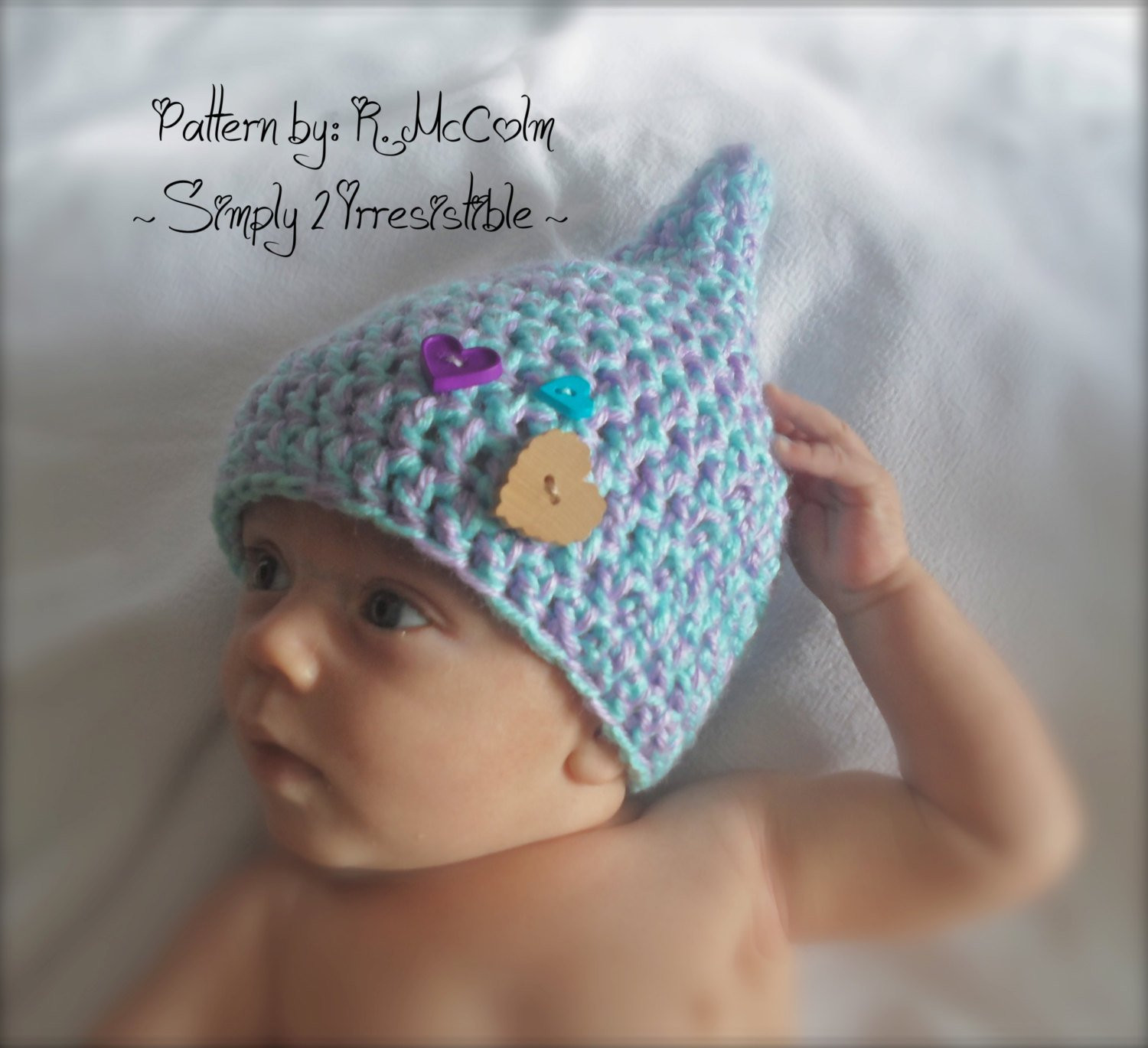 Inspirational Gnome Pixie Elf Hat Crochet Pattern 24 Newborn to 12 Newborn Hat Pattern Of Great 46 Models Newborn Hat Pattern