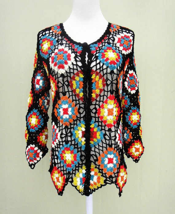 Inspirational Granny Square Sweater Crochet Cardigan Long Sleeve button Down Granny Square Sweater Of Superb 45 Photos Granny Square Sweater