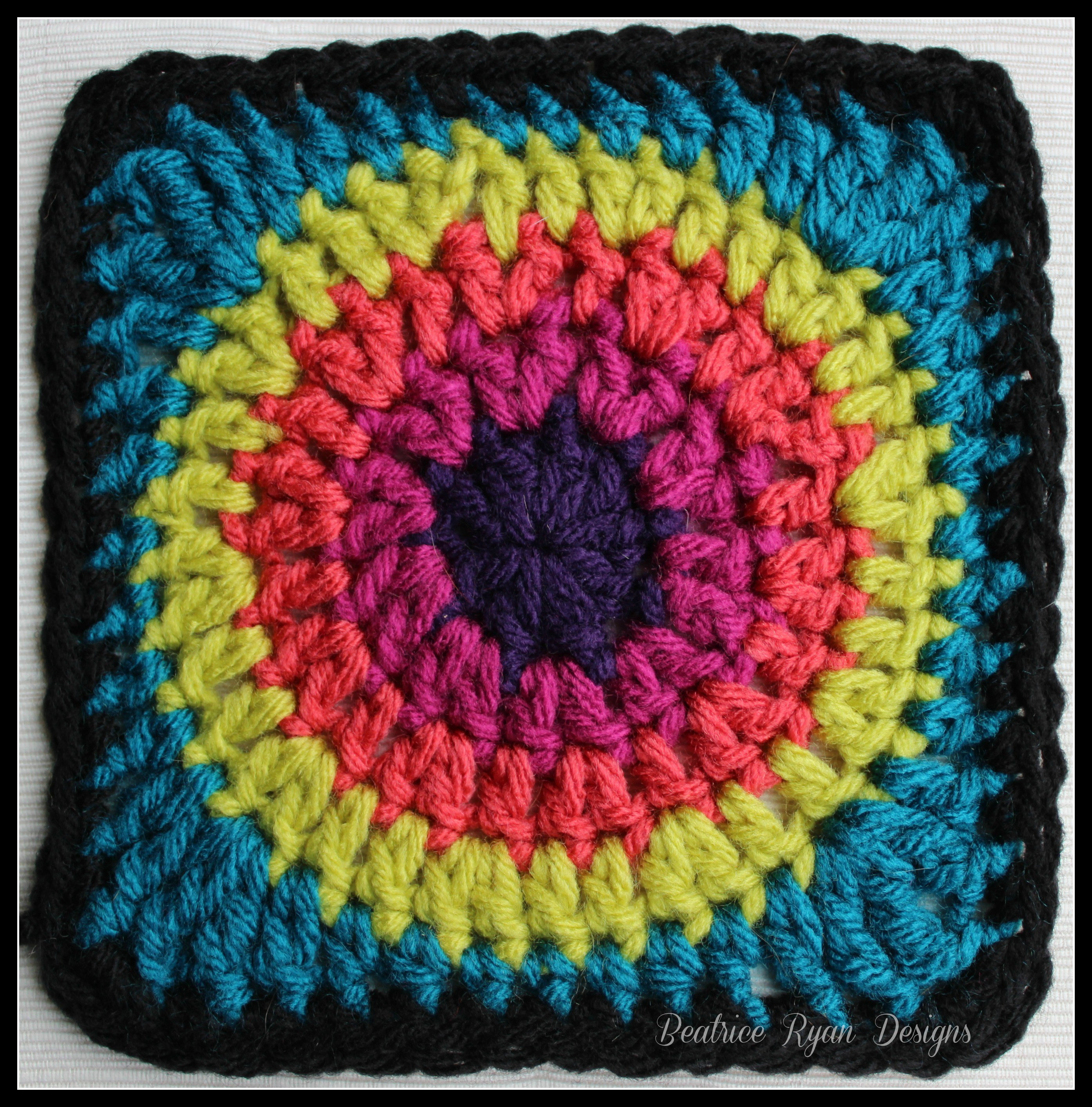 Inspirational Granny's Circle In Square… Free Crochet Pattern Easy Granny Square Pattern Of Amazing 41 Pictures Easy Granny Square Pattern