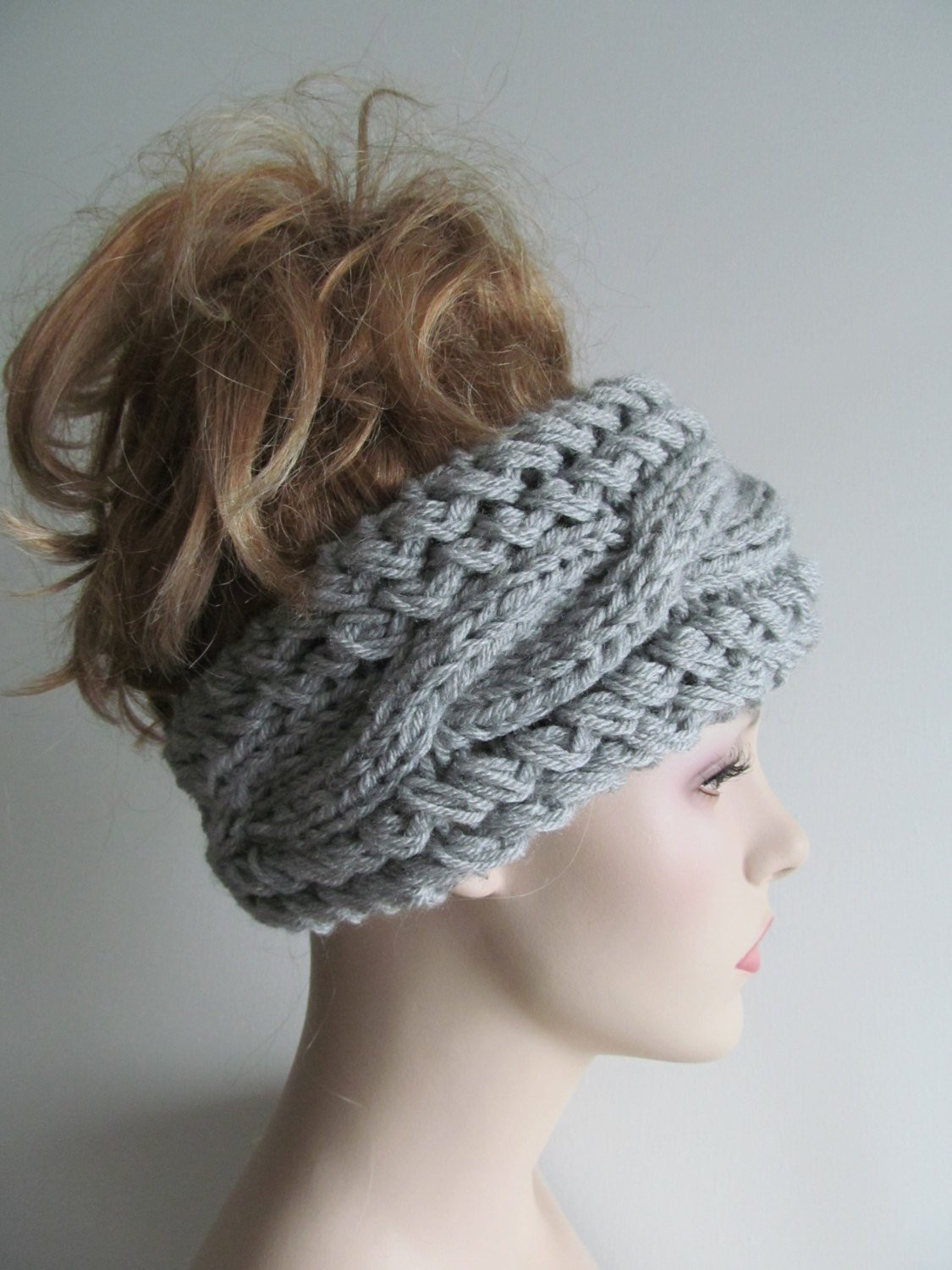 Inspirational Grey Cable Headbands Knit Ear Warmers button Gray Fall Knitted Ear Warmers Of Unique 50 Images Knitted Ear Warmers