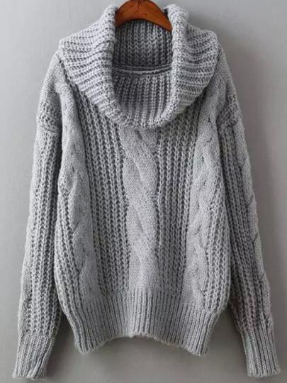 Inspirational Grey Cowl Neck Winter Sweater Trendy Cable Knit Sweater Cowl Neck Knit Sweater Of Top 42 Pictures Cowl Neck Knit Sweater