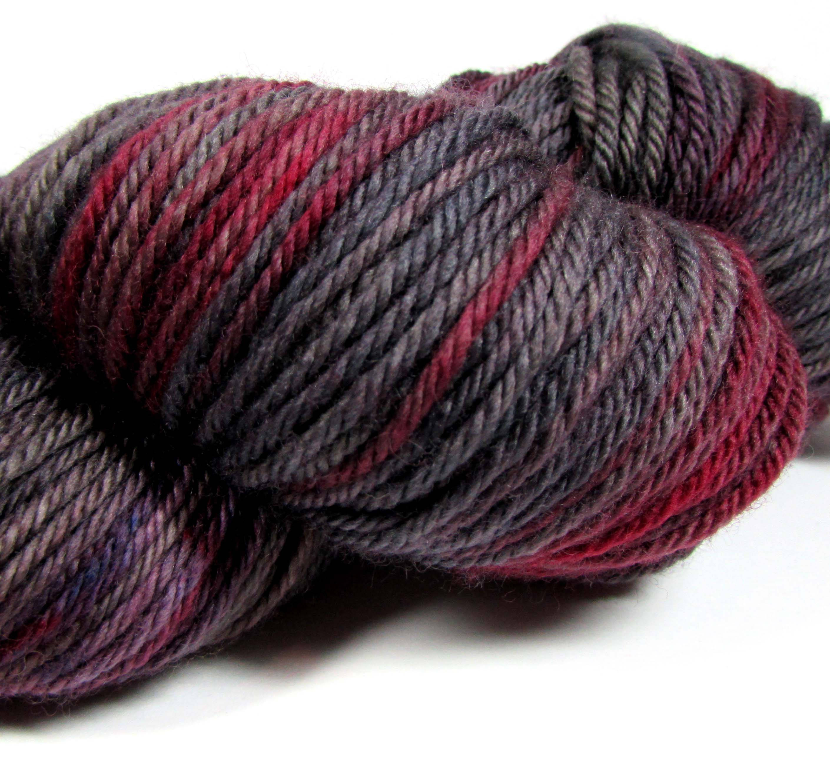 Inspirational Hand Dyed Yarn Dk Wine Red Dark Gray soft Black Mauve Red and Black Variegated Yarn Of Great 49 Pictures Red and Black Variegated Yarn