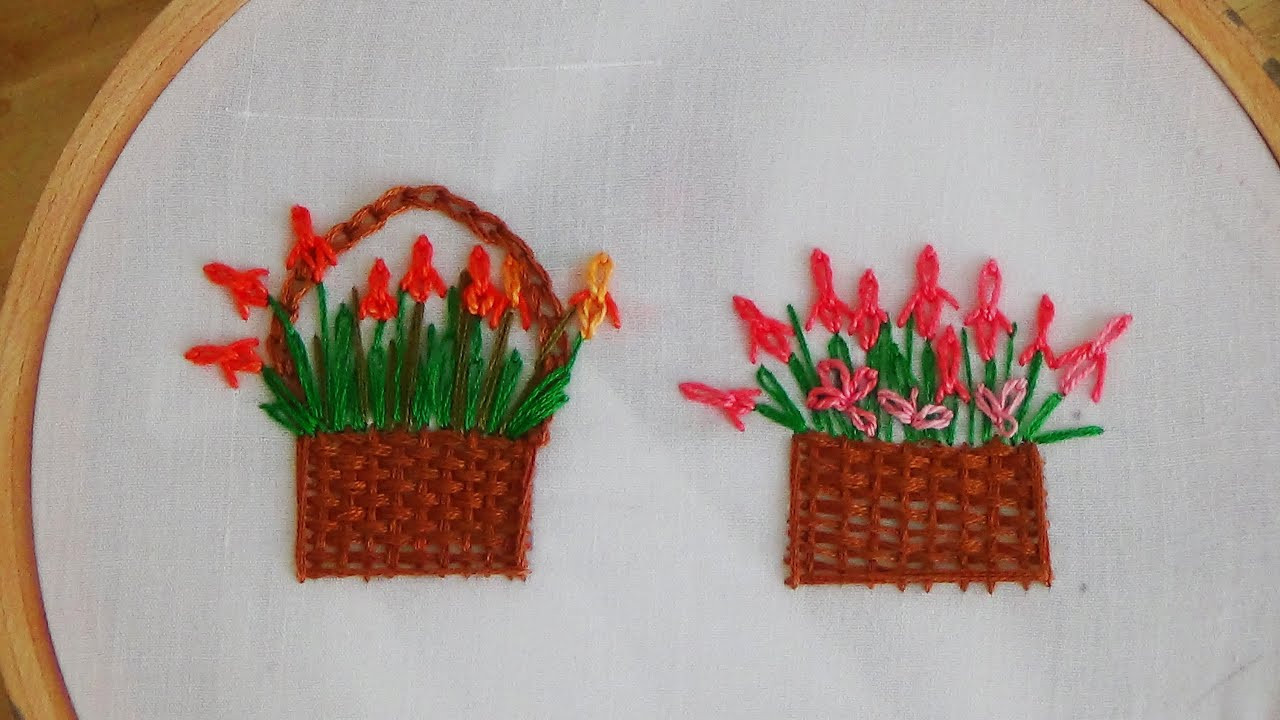 Inspirational Hand Embroidery Flower Basket Stitch Basket Stitch Of Lovely 48 Models Basket Stitch