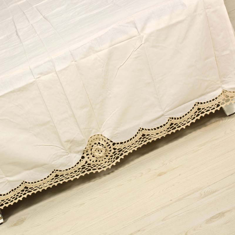Inspirational Handmade Crochet Lace Bed Skirt Twin Bedding Cover Trade Crochet Bed Skirts Of Gorgeous 41 Pics Crochet Bed Skirts