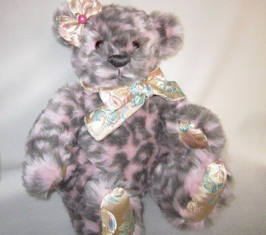Handmade Teddy Bears and Ragge s Pink and Grey Teddy