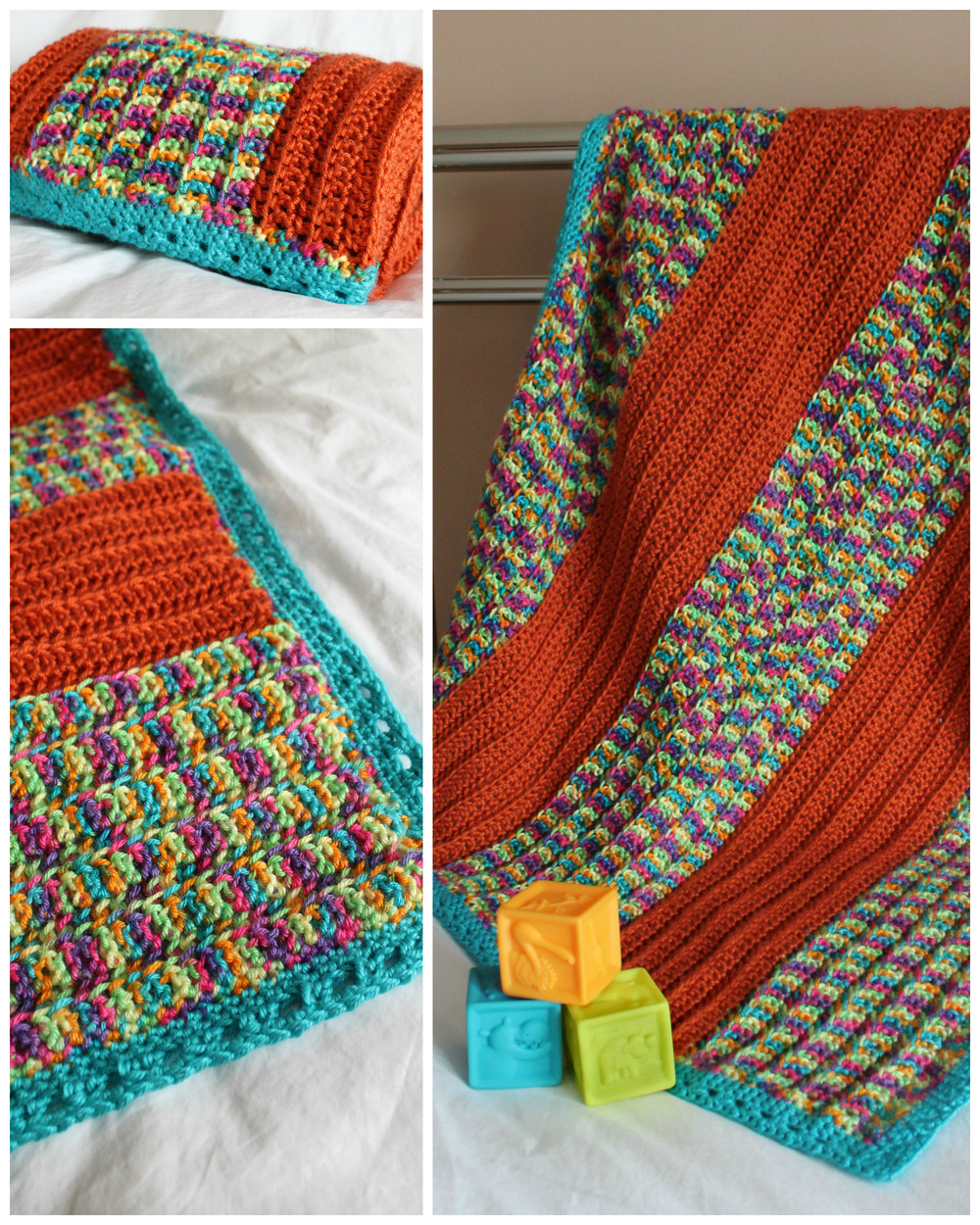 Inspirational Happy Stripes Crochet Baby Blanket Easiest Crochet Blanket Of New 50 Images Easiest Crochet Blanket