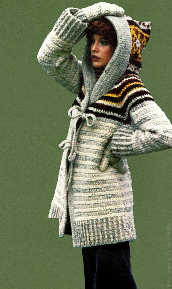 Inspirational Hooded Sweater Vintage 70s and Sweater Coats On Pinterest Crochet Hooded Sweater Pattern Of Great 48 Pictures Crochet Hooded Sweater Pattern
