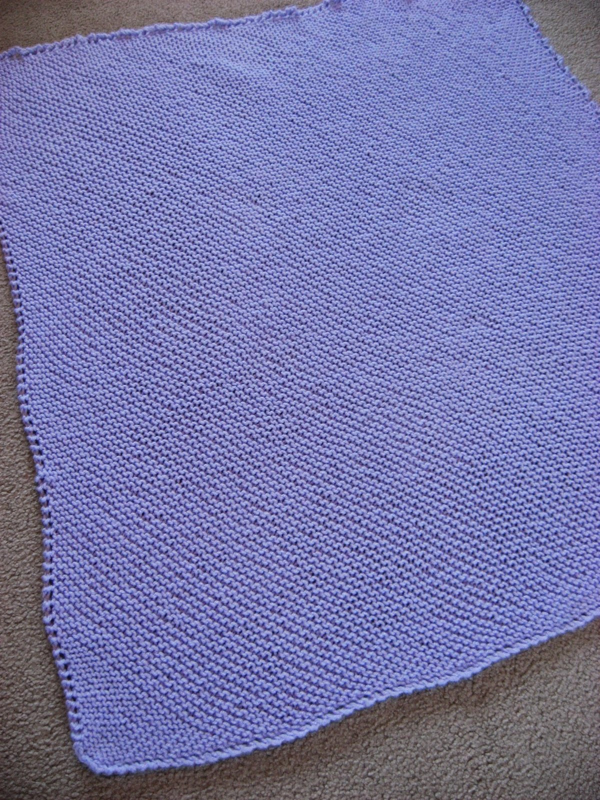 easy knitted baby blanket instructions