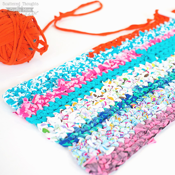 Inspirational How to Crochet A Rag Rug with Fabric Scraps Scattered Crochet Rug with Fabric Strips Of Adorable 46 Images Crochet Rug with Fabric Strips