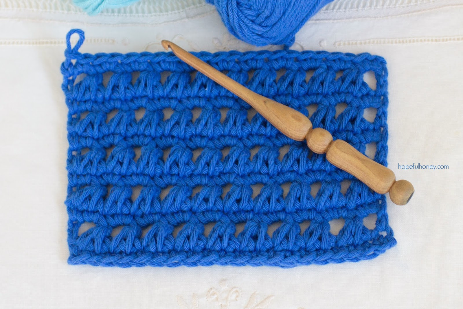 How To Crochet The Triangle Stitch Easy Tutorial
