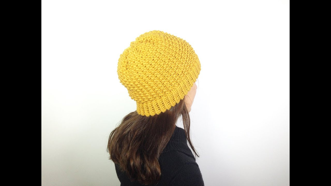How to Loom Knit a Hat in Seed Stitch DIY Tutorial