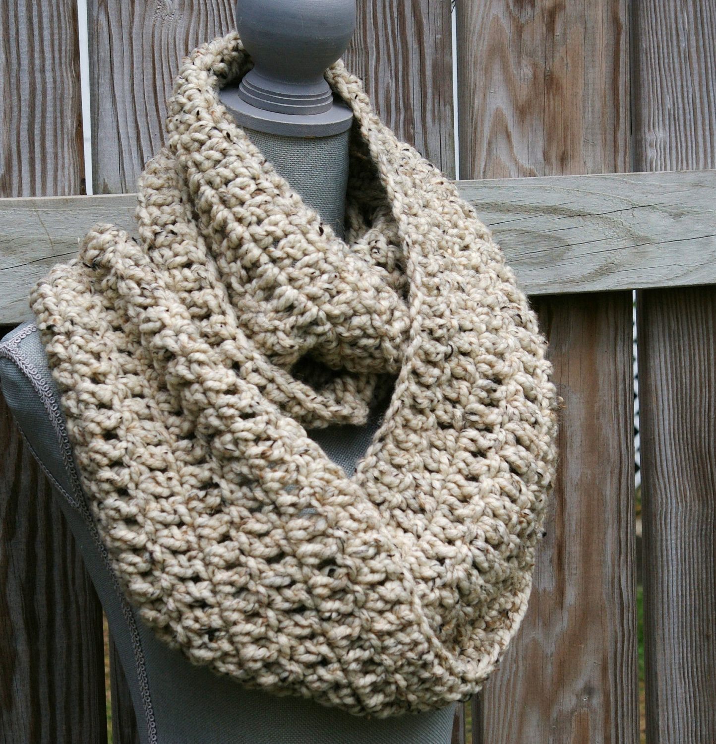 Inspirational Infinity Scarf Crochet Circle Scarf Chunky Cowl by Chunky Scarf Pattern Of Marvelous 49 Photos Chunky Scarf Pattern