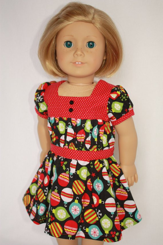 "Inspirational Items Similar to American Girl 18"" Doll Christmas Dress On American Girl Doll Christmas Outfits Of Wonderful 40 Ideas American Girl Doll Christmas Outfits"