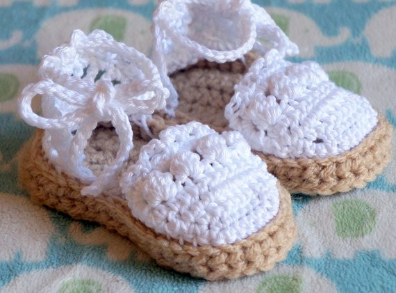 Items similar to Crochet Baby Espadrilles Sandals on Etsy