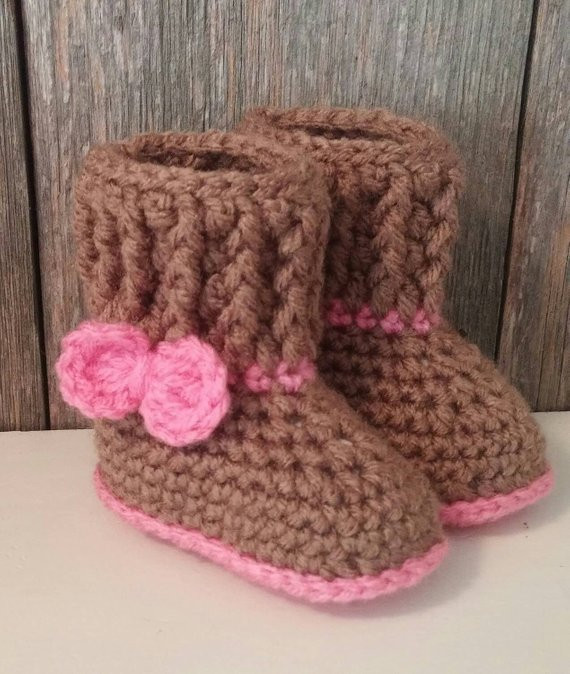Inspirational Items Similar to Crochet Baby Ugg Boots Brown Baby Uggs Crochet Uggs Boots Of New 45 Ideas Crochet Uggs Boots