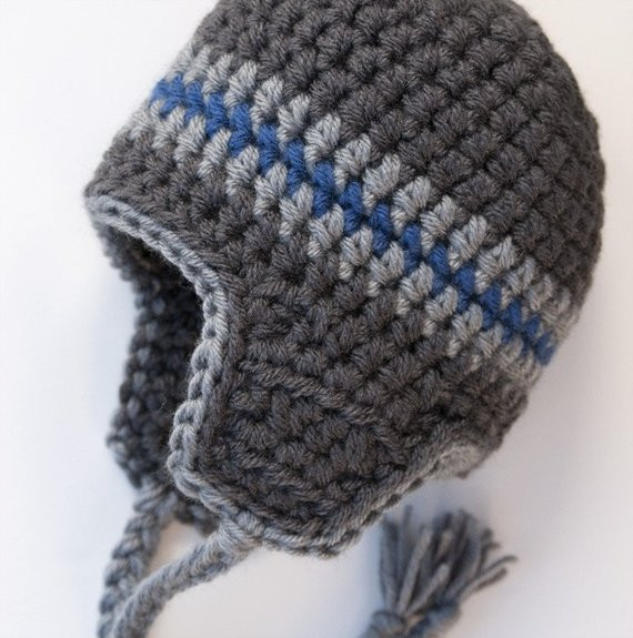 Inspirational Items Similar to Kids Knit Hat Boys Aviator Hat with Ear Knit Hat with Ear Flaps Of Marvelous 50 Pics Knit Hat with Ear Flaps