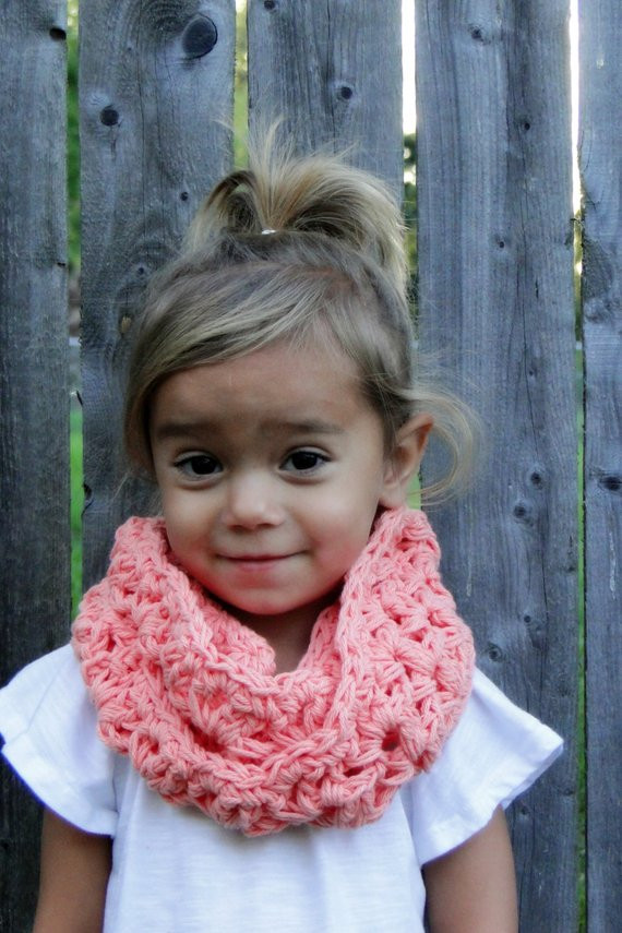 Inspirational Items Similar to Kids Scarf Girls Crochet Cowl Kids Crochet Kids Scarf Of New 9 Cool Crochet Scarf Patterns Crochet Kids Scarf