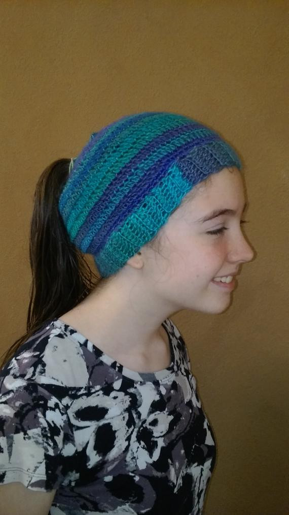 Inspirational Items Similar to Messy Bun Hat Ponytail Hat Beanie Hat Beanie with Bun Hole Of Amazing 46 Photos Beanie with Bun Hole