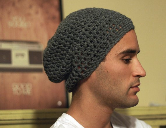 Items similar to PATTERN ONLY Simple Men s Slouchy Beanie