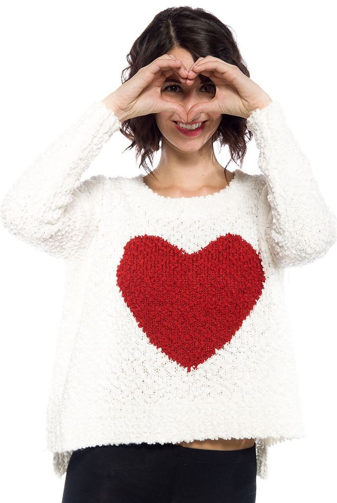 Inspirational Ivory Knit Red Heart Sweater Red Heart Sweater Of Lovely 32 Ideas Red Heart Sweater