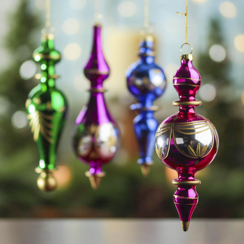 Inspirational Jewel toned Vintage Glass Finial ornaments Christmas Vintage Christmas ornaments for Sale Of Charming 43 Pictures Vintage Christmas ornaments for Sale