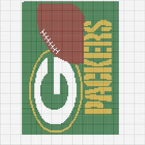 Kendra s Crocheted Creations Green bay packers afghan pattern