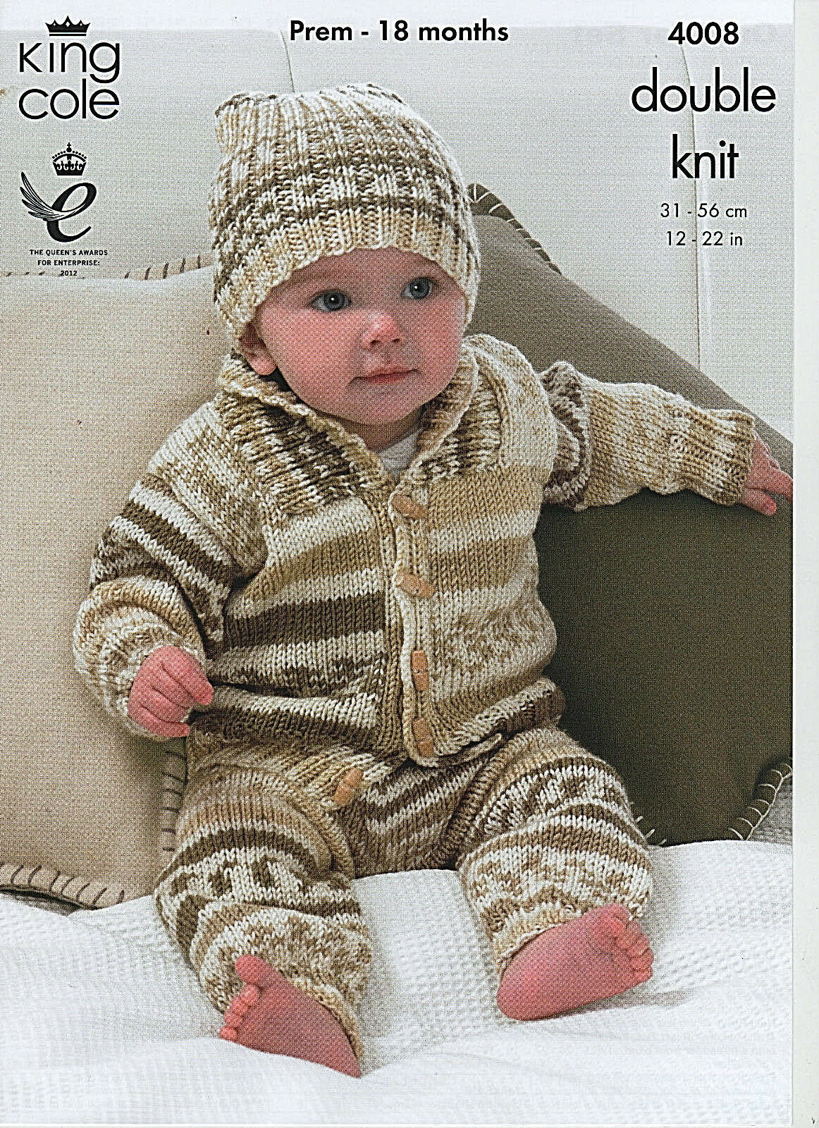 KING Cole Easy Knit Baby Double Knitting Pattern sweater
