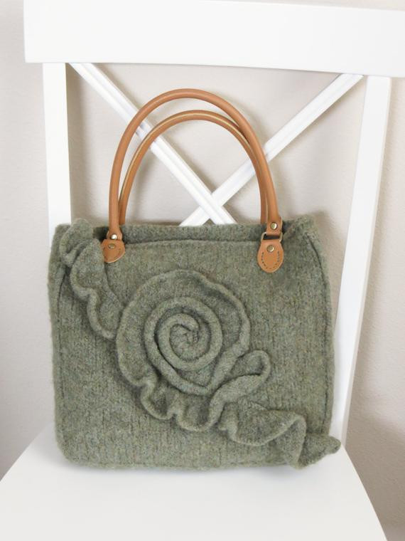 Inspirational Knit and Felted Purse Pattern Bag tote by Deboraholearypattern Knitting Bags and totes Of Marvelous 48 Ideas Knitting Bags and totes
