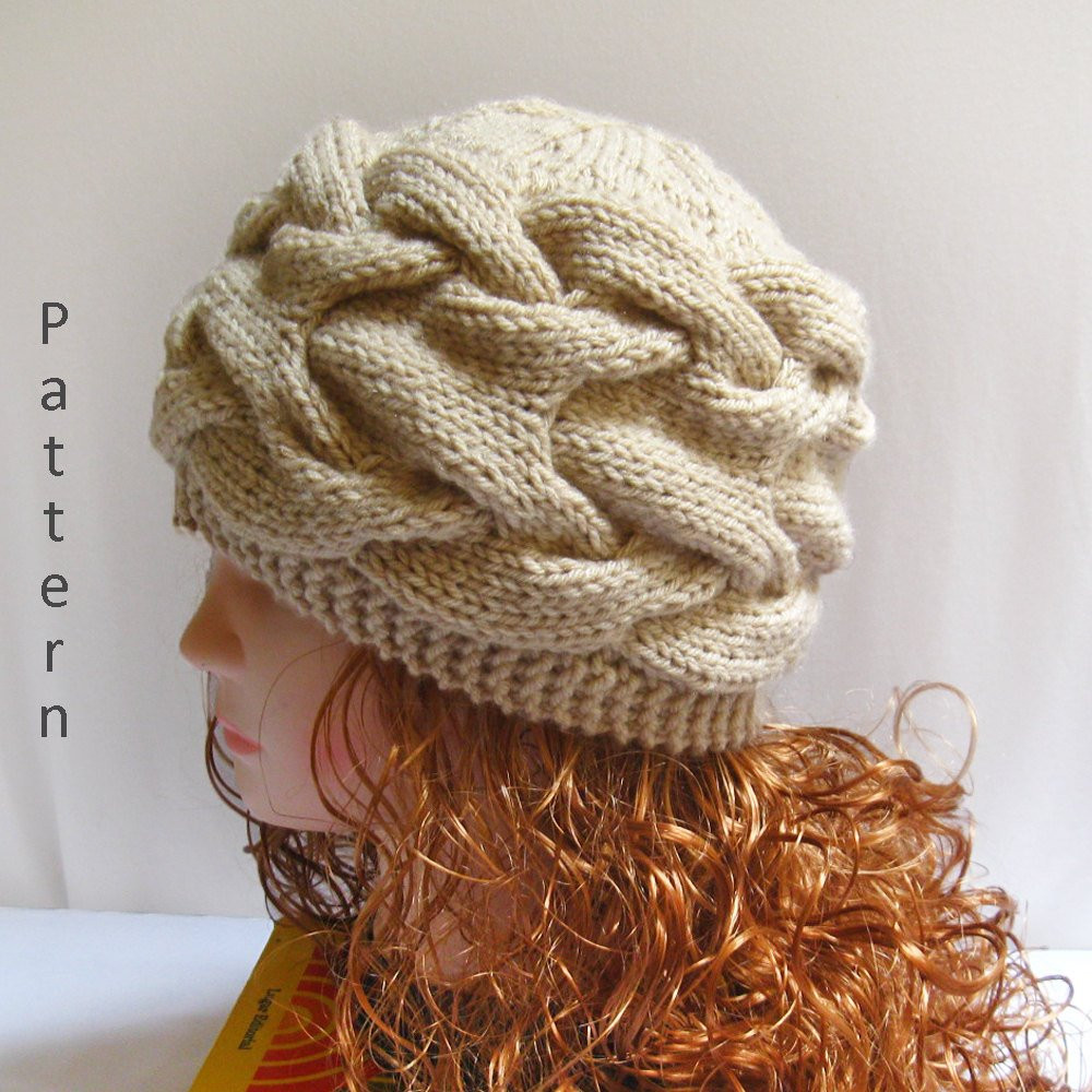 Inspirational Knit Hat Pattern Knit Cabled Hat Pdf Pattern Knitting Cable Hat Of Superb 40 Pictures Cable Hat