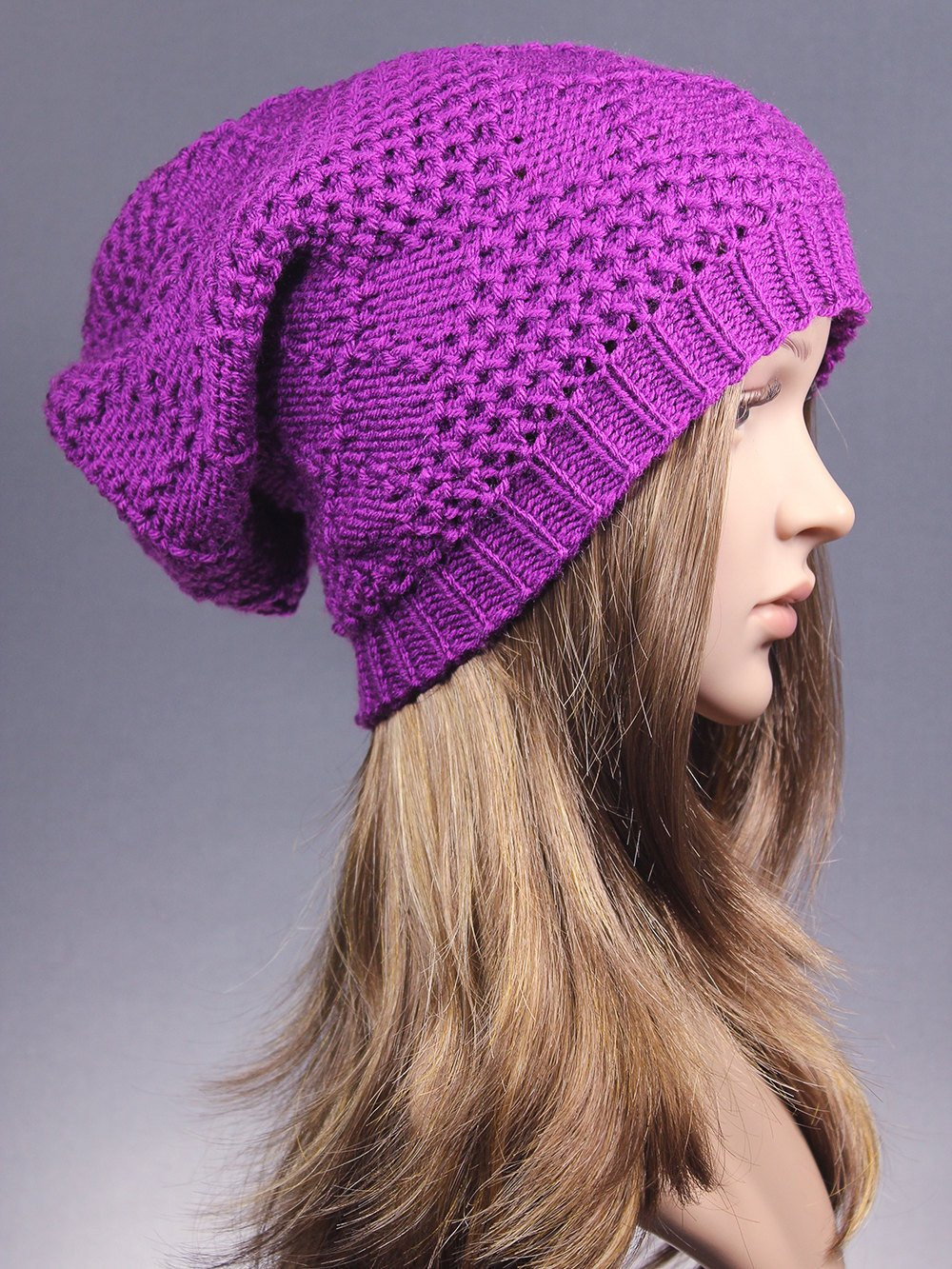 Inspirational Knit Hat Slouchy Hat Winter Hat Winter Beanie Purple Knit Slouchy Beanie Of Lovely 42 Images Knit Slouchy Beanie