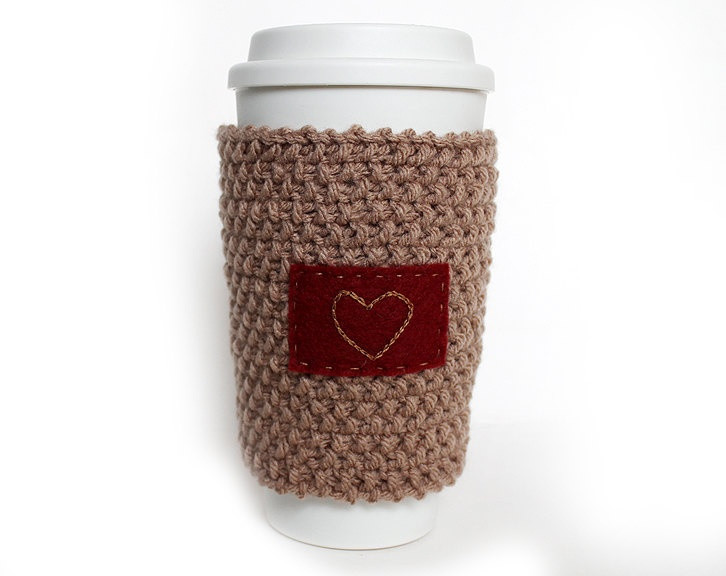 Inspirational Knitted Coffee Cup Cozy Sleeve orange with Heart Knit Coffee Cozy Of Luxury 48 Photos Knit Coffee Cozy
