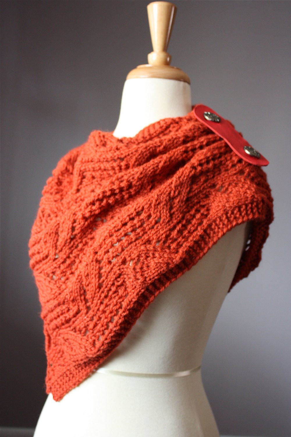 Knitting pattern Hand knit lacy leafy scarf neck warmer