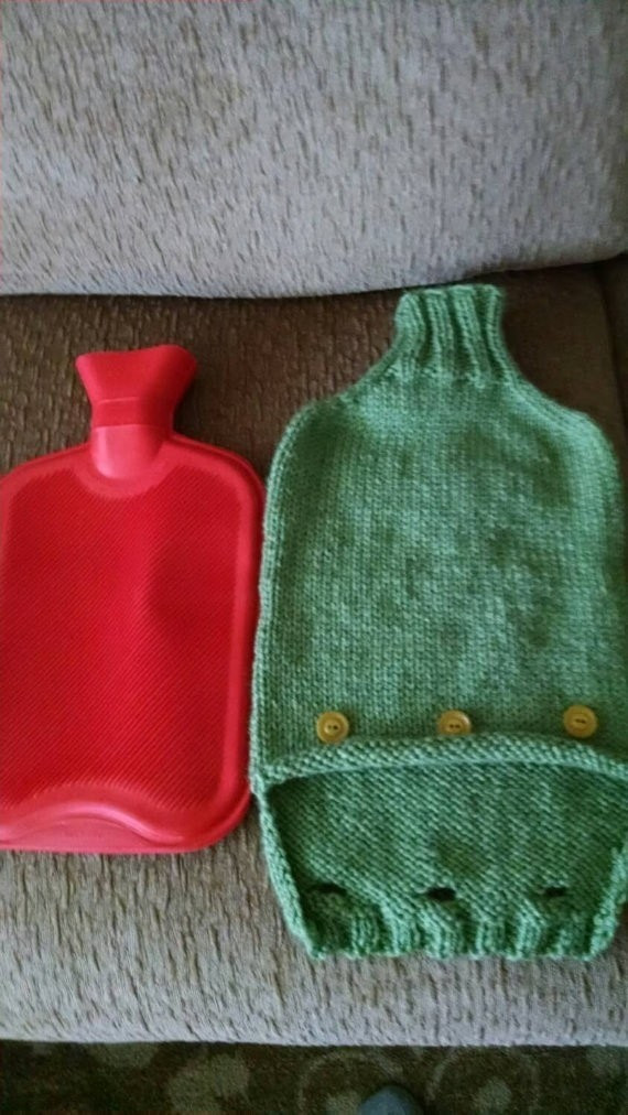 Knitting Pattern Hot Water Bottle Cozy · How To Make A Hot