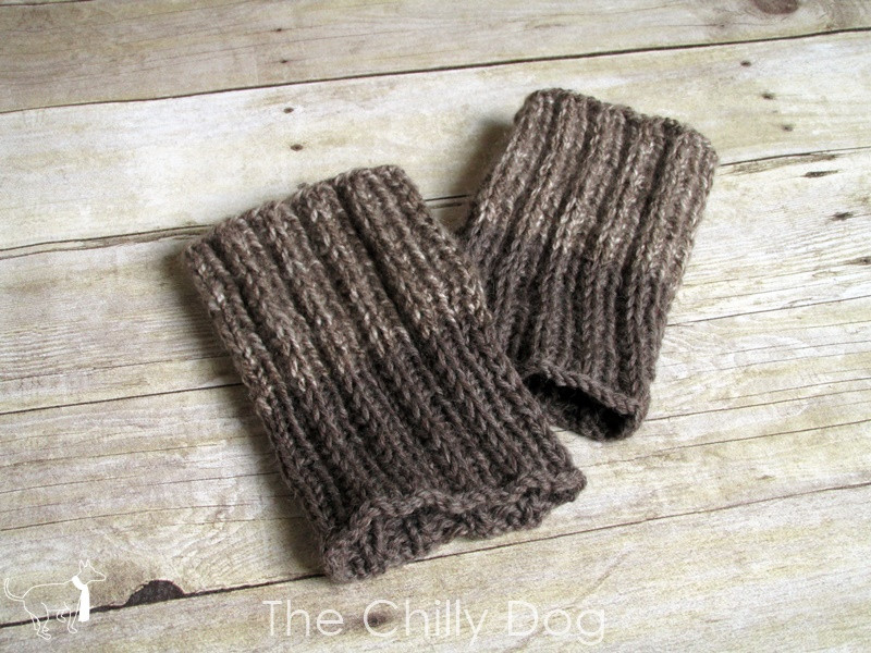 Knitting Pattern Simple Reversible Boot Cuffs