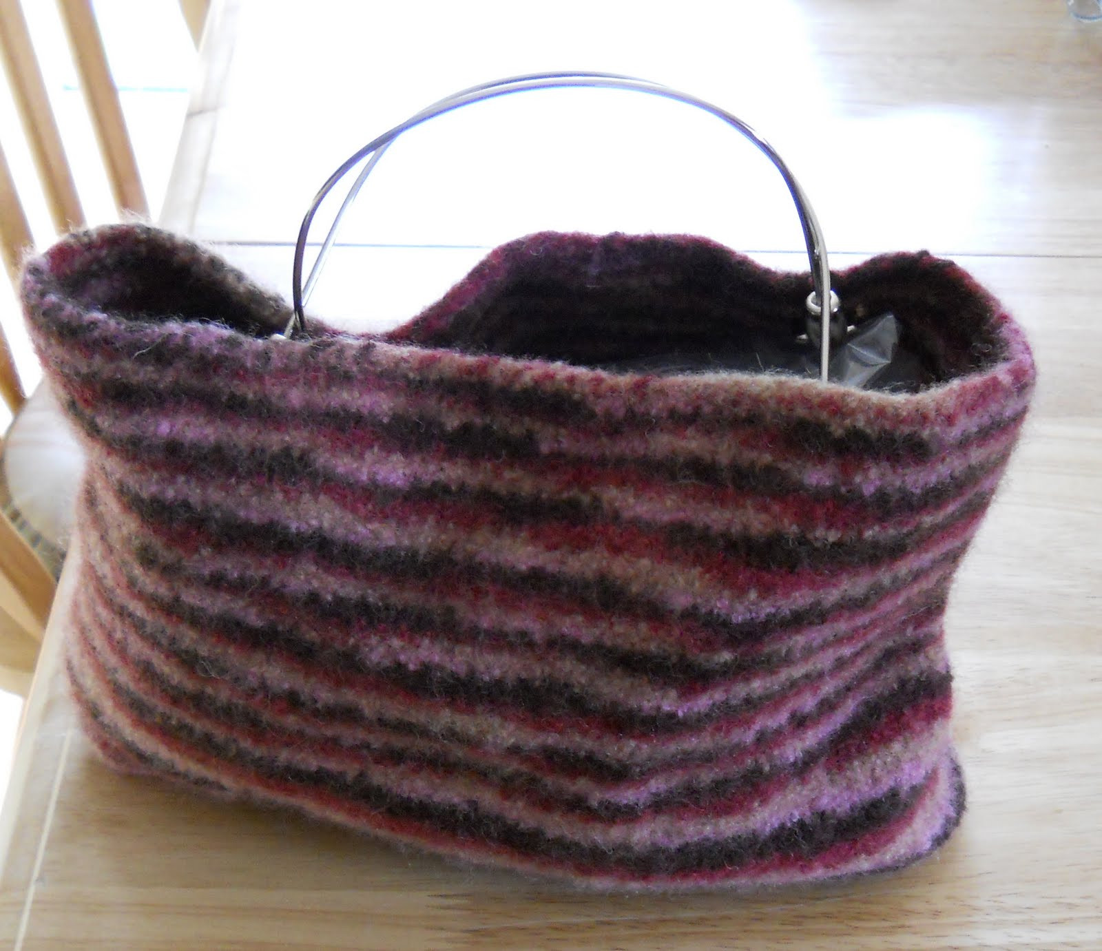 Inspirational Knitting with Schnapps Finally Finished A Felted Bag Knitted Purse Of Amazing 41 Pics Knitted Purse