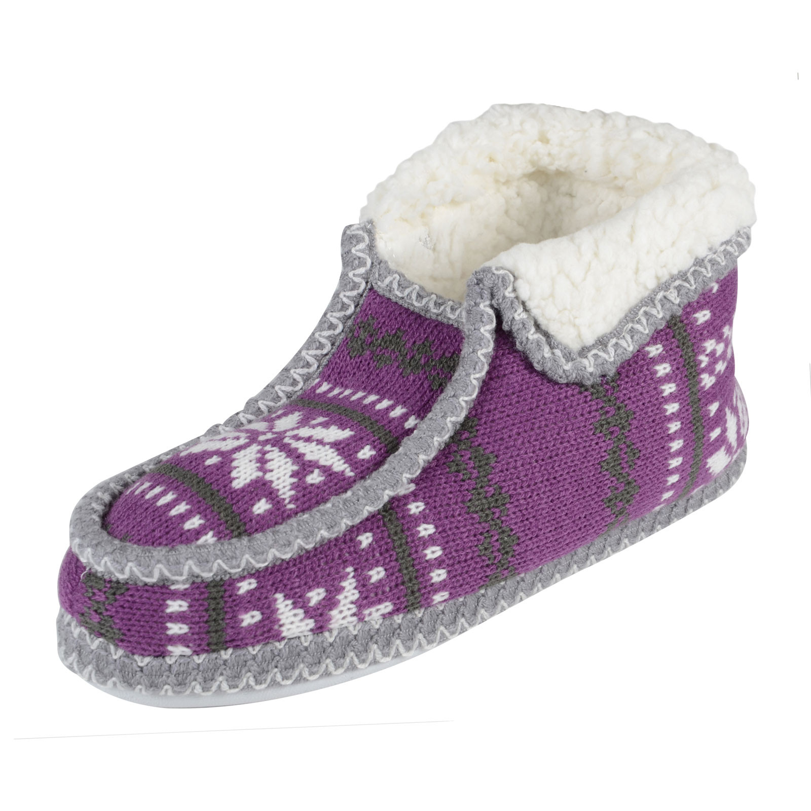 Inspirational La S Boot Slippers Fairisle Knit Booties with Non Slip Knitted Slipper Boots Of Superb 41 Pics Knitted Slipper Boots