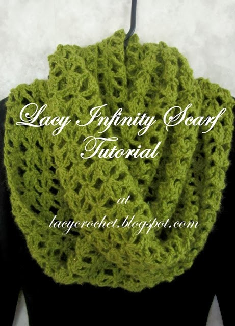 Lacy Crochet Lacy Infinity Scarf Tutorial