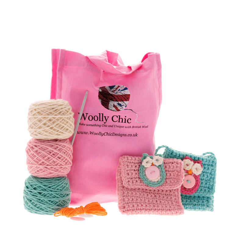 Learn to Crochet an Owl Purse Beginner Crochet Kit
