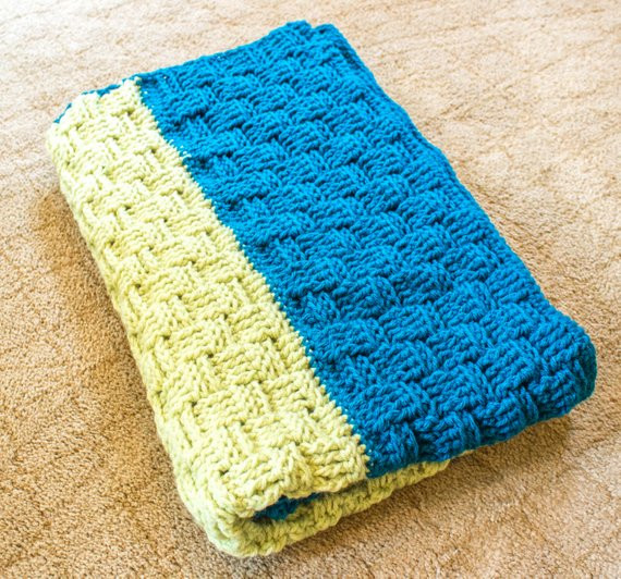 Inspirational Lime and Teal Basket Weave Crochet Baby Blanket Basket Weave Crochet Baby Blanket Of Brilliant 46 Photos Basket Weave Crochet Baby Blanket