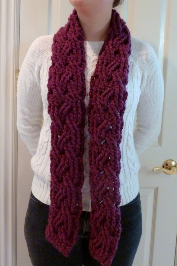 Inspirational London Braided Cable Bulky Scarf Crochet Pattern for Women Bulky Yarn Scarf Pattern Of Top 47 Ideas Bulky Yarn Scarf Pattern