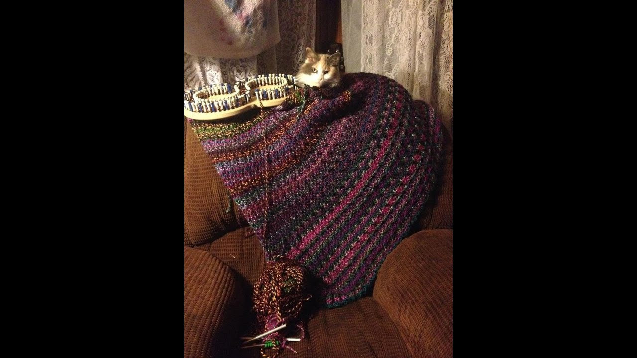 Inspirational Loom Knit Inverted Ribbed Stitch Blanket Start to Finish Afghan Knitting Loom Of Superb 49 Pics Afghan Knitting Loom