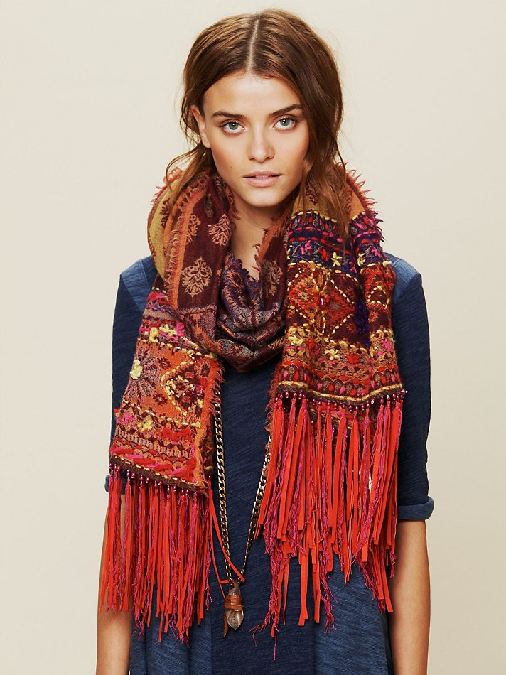 Inspirational Lyst Free People Leather Fringe Scarf In Red Scarf Fringe Of Innovative 50 Pics Scarf Fringe