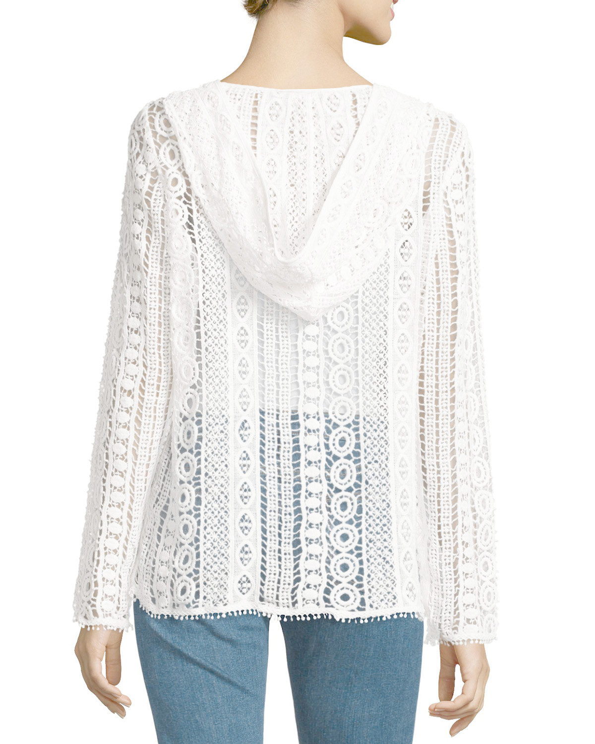 Inspirational Lyst Hiche Crochet Lace Hooded Sweater In White White Crochet Cardigan Of Lovely 47 Ideas White Crochet Cardigan
