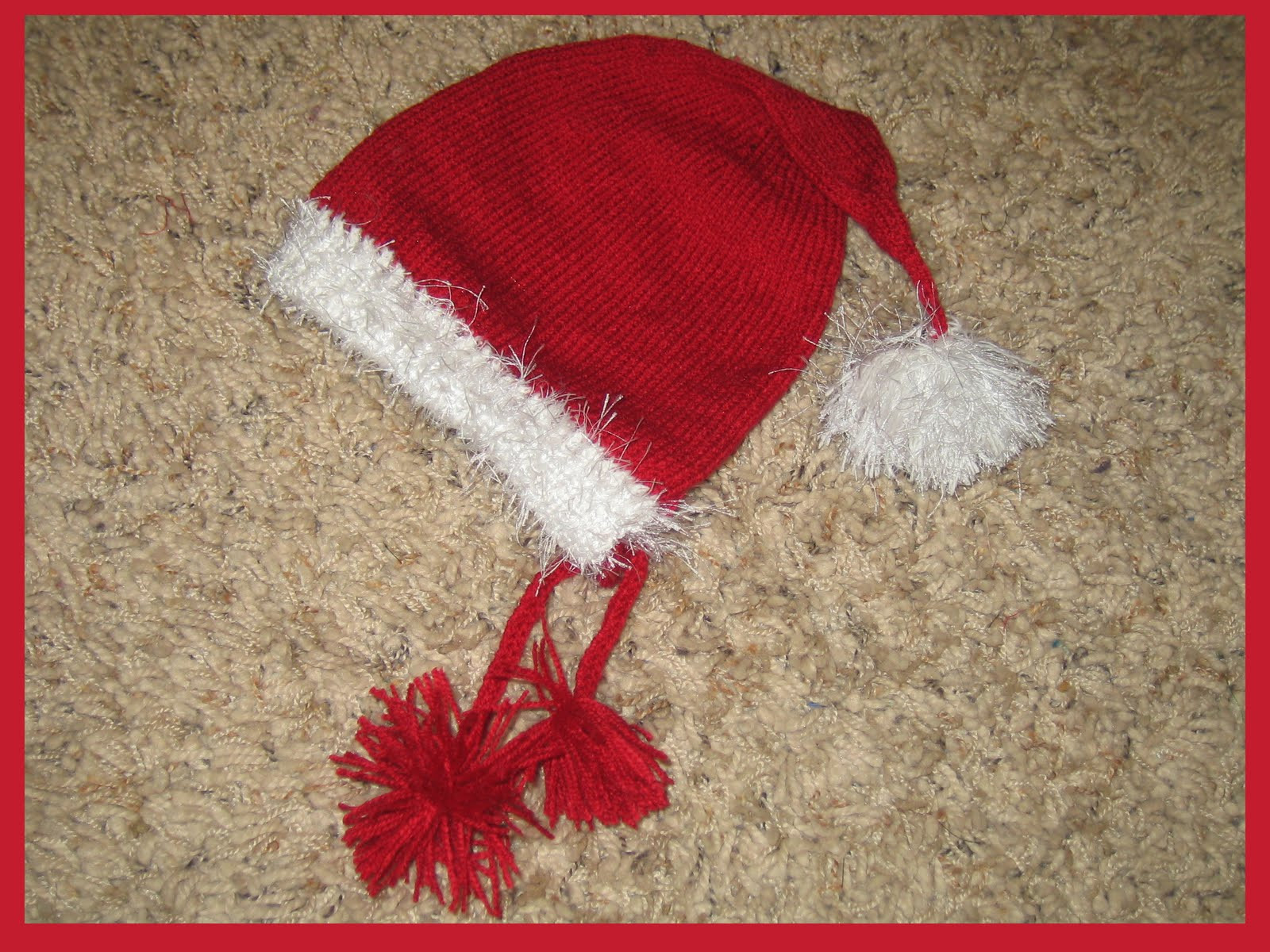 Inspirational Marzipanknits Free Machine Knit Pattern for A Baby Santa Hat Santa Hat Pattern Of Awesome Items Similar to Knitting Pattern Santa Christmas Hat or Santa Hat Pattern