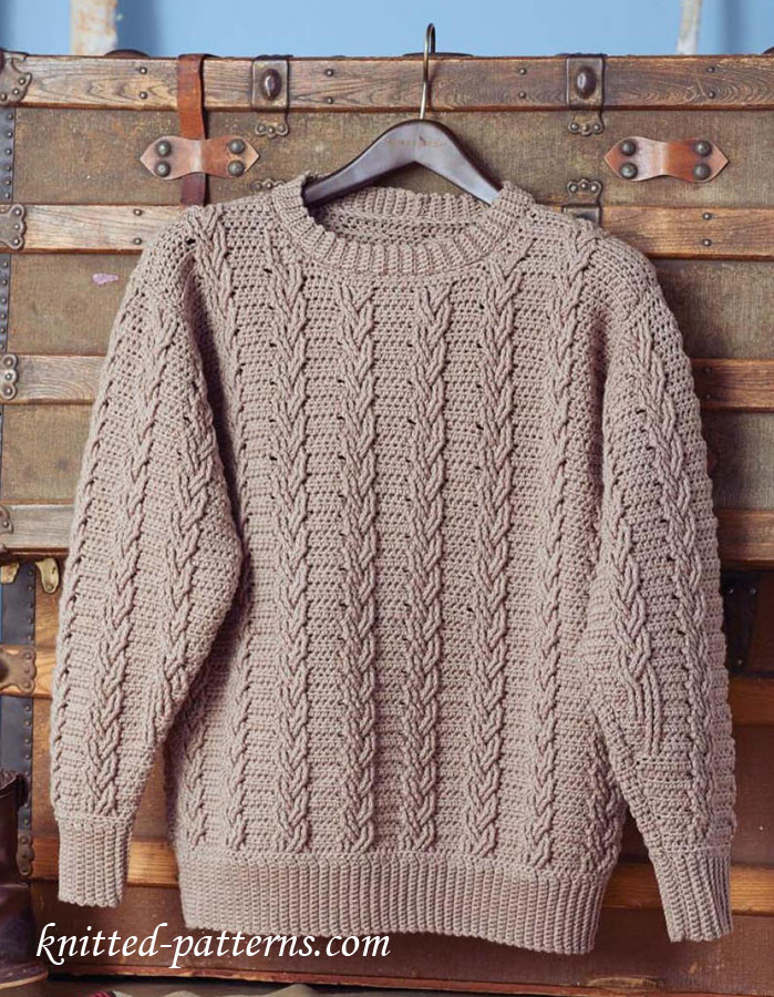 Inspirational Men S Crochet Sweater Pattern Free Crochet Pullover Of Top 47 Images Crochet Pullover