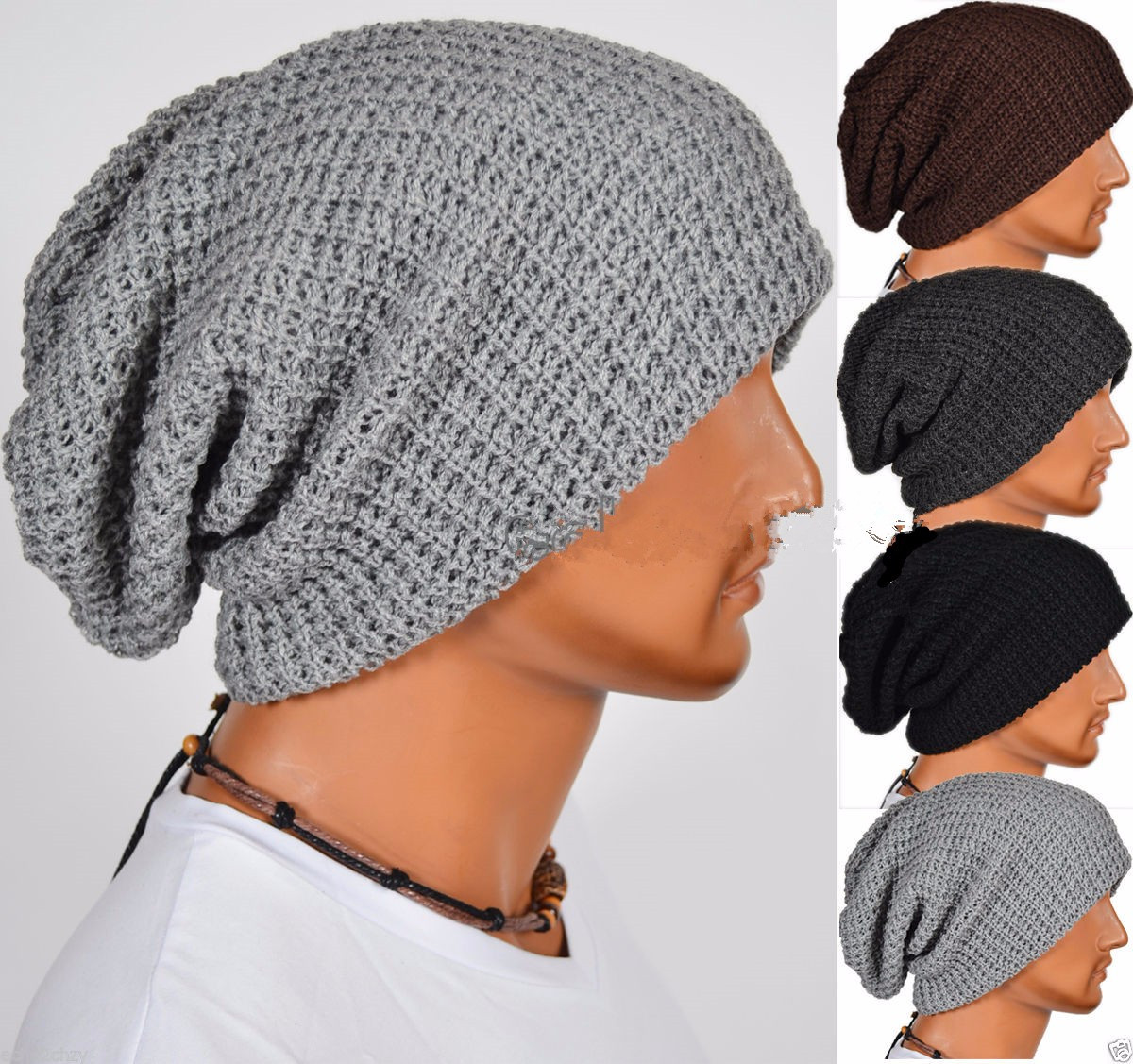 Inspirational Men Women Uni Warm Winter Knit Cap Baggy Beanie Skull Mens Slouchy Beanie Hats Of Amazing 47 Models Mens Slouchy Beanie Hats