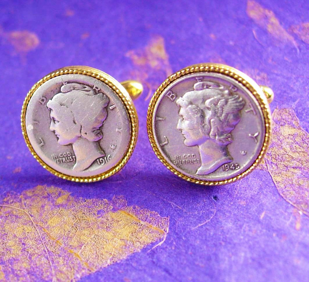 Inspirational Mercury Dime Cufflinks Vintage Lady Liberty 1945 and 1916 Lady Liberty Dime Of Adorable 45 Pics Lady Liberty Dime