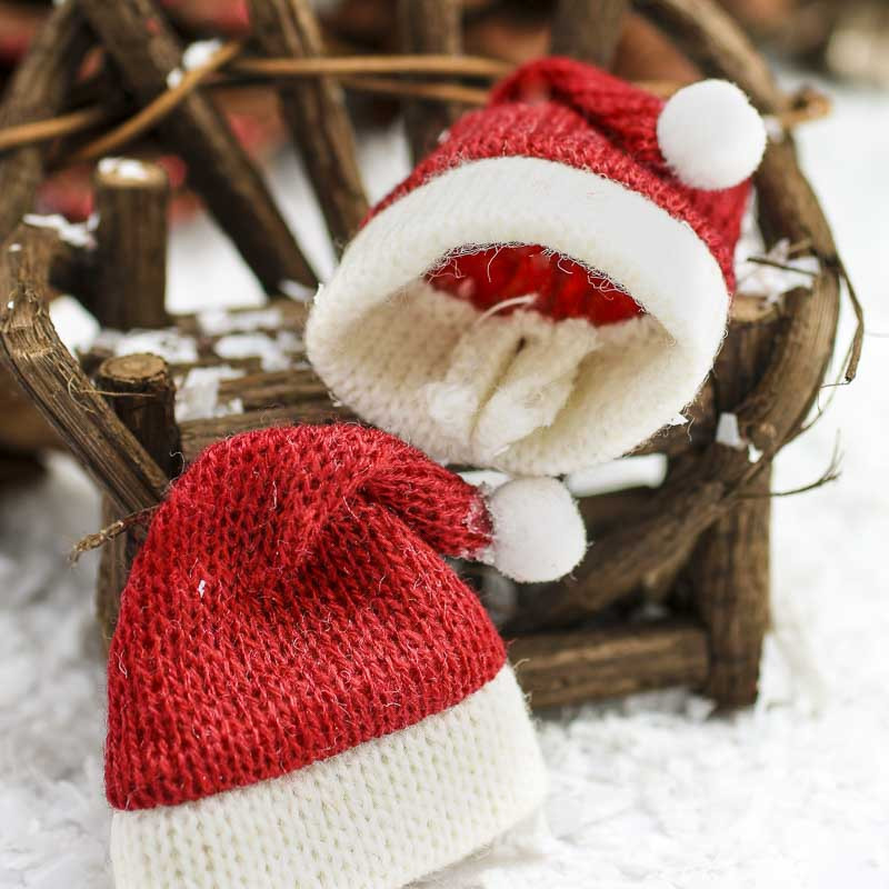 Inspirational Miniature Knitted Santa Hats Christmas Miniatures Knitted Christmas Hats Of Adorable 50 Models Knitted Christmas Hats