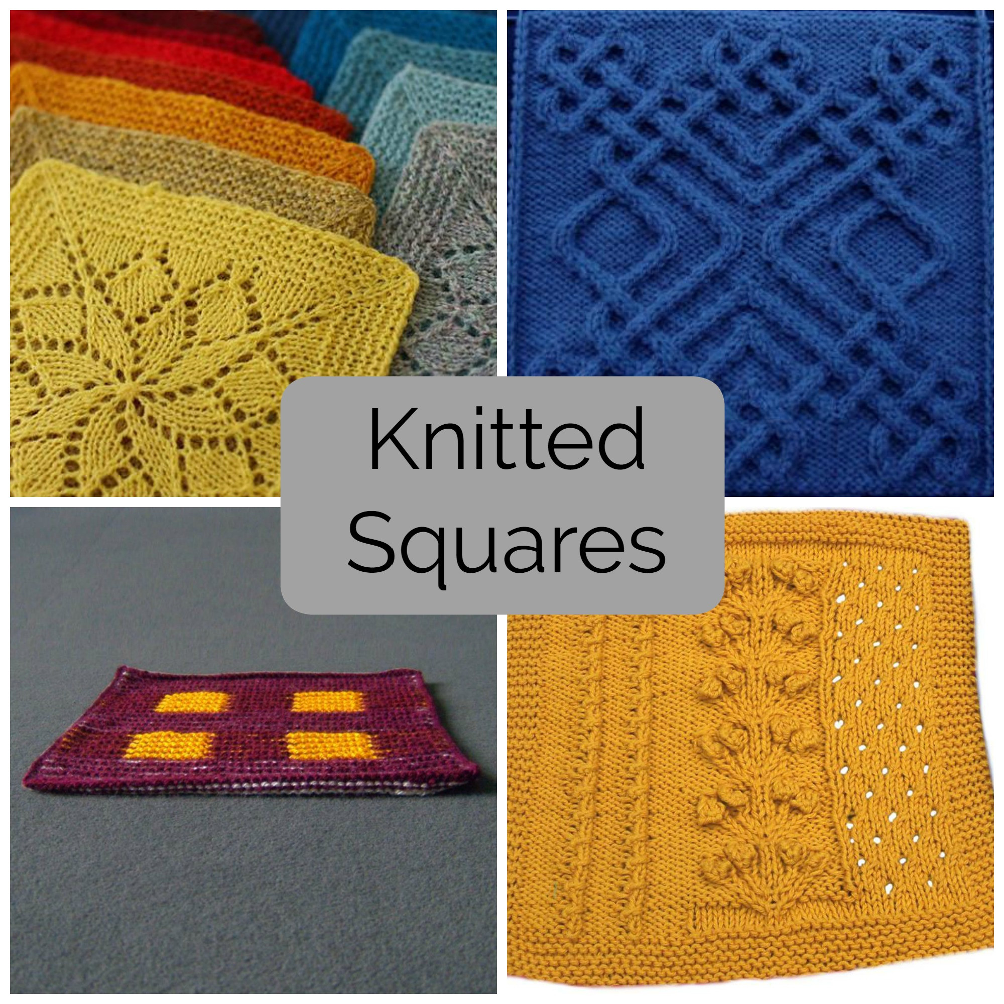 Inspirational Mix and Match these Knitted Squares for Any Project Knitted Blanket Squares Of Unique 45 Photos Knitted Blanket Squares
